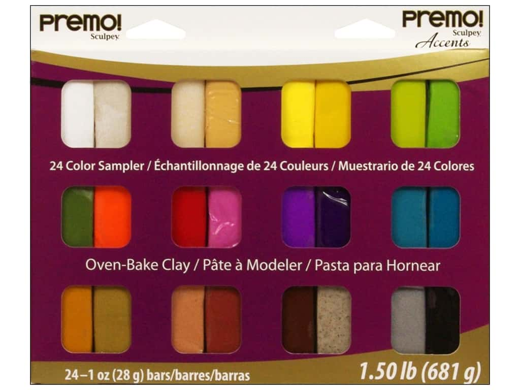 Premo! Sculpey Sampler Packs 24 pc.