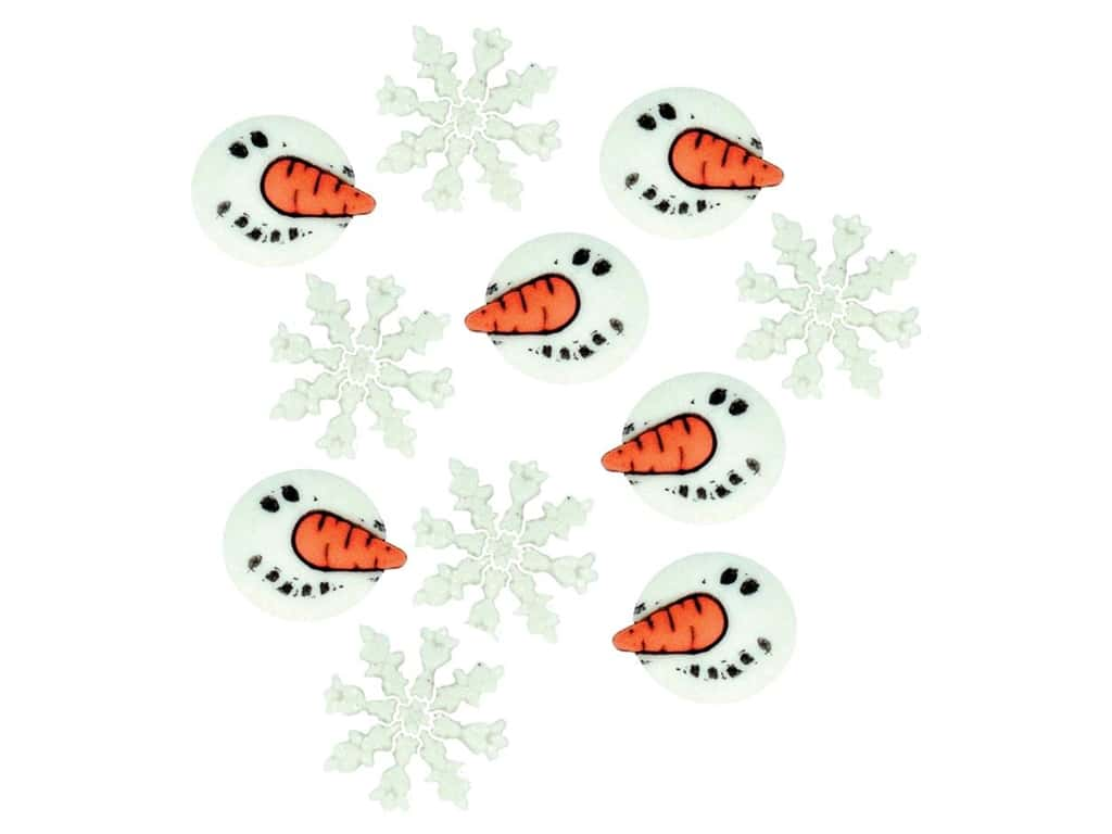 Jesse James Dress It Up Embellishments Snowman Faces