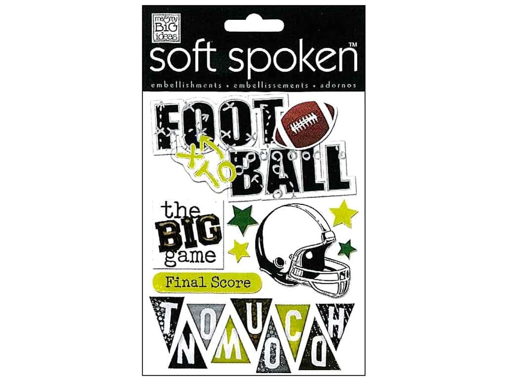 Me & My Big Ideas Soft Spoken Stickers Football Touchdown