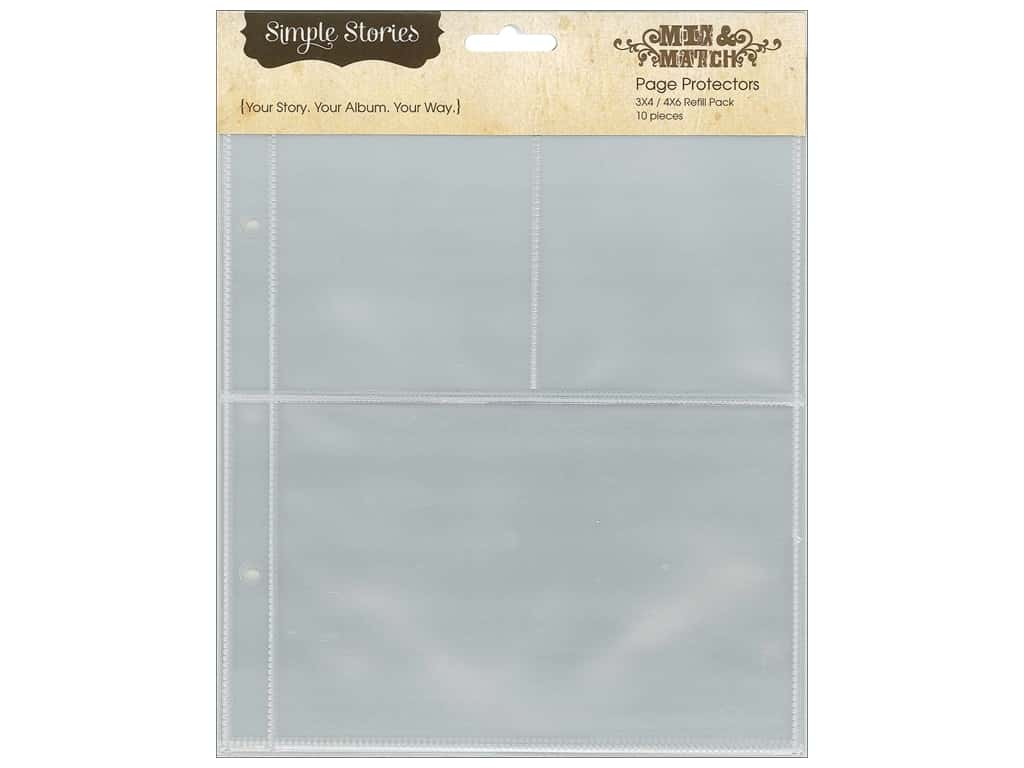 Simple Stories Pocket Pages 10 pc. 3 x 4 in. & 4 x 6 in.