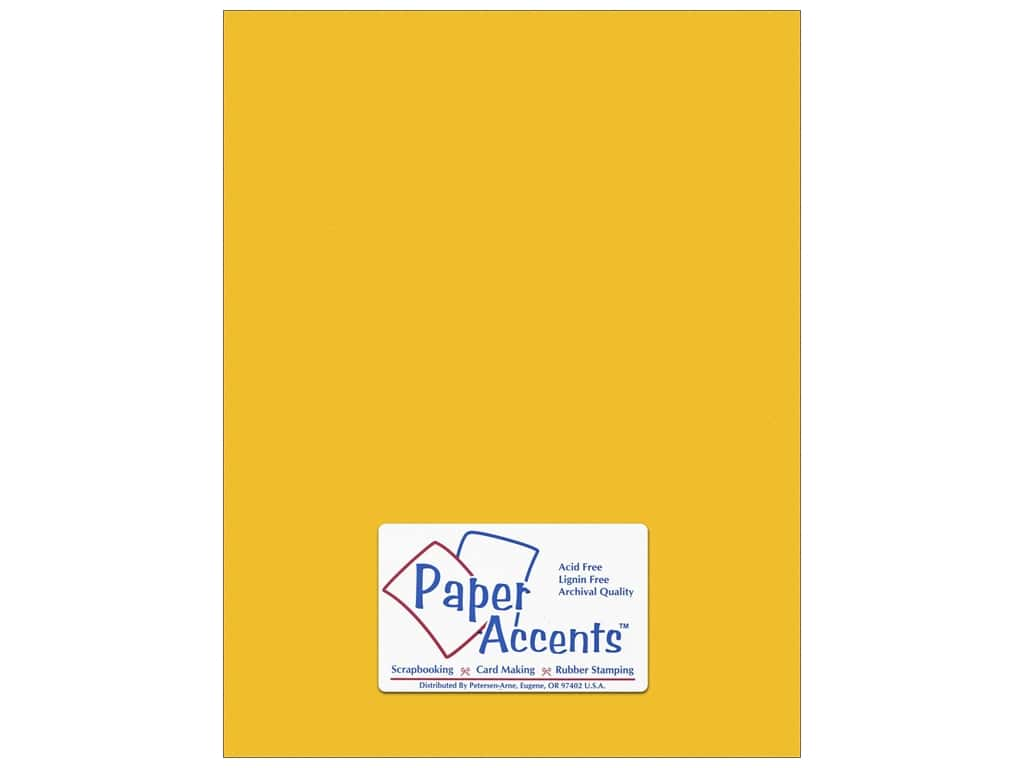 Paper Accents Cardstock 8 1/2 x 11 in. #10146 Stash Builder Textured Sun Glow (25 sheets)