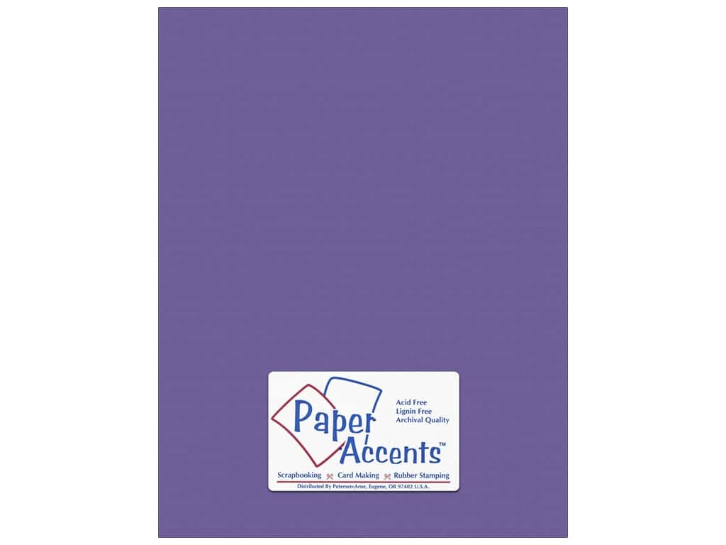 PA Paper Accents Stash Builder Cardstock - 8 1/2 x 11 in. - #10154 Textured Royal Purple 25 pc.
