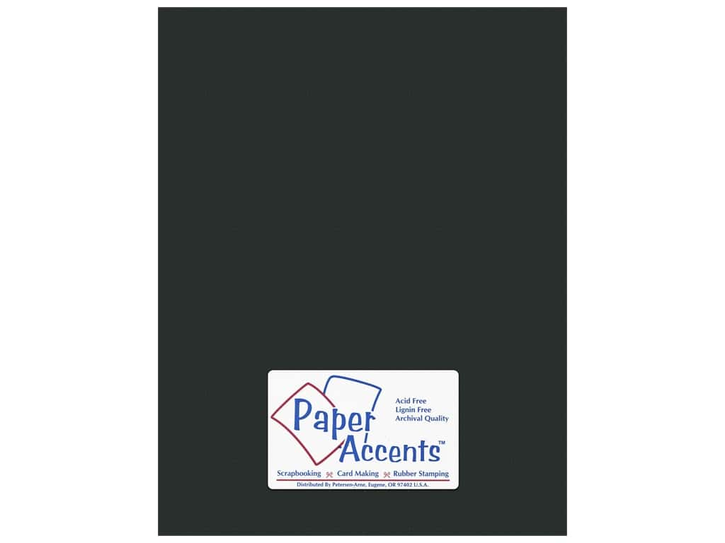 Paper Accents Cardstock 8 1/2 x 11 in. #10160 Stash Builder Textured Obsidian (25 sheets)