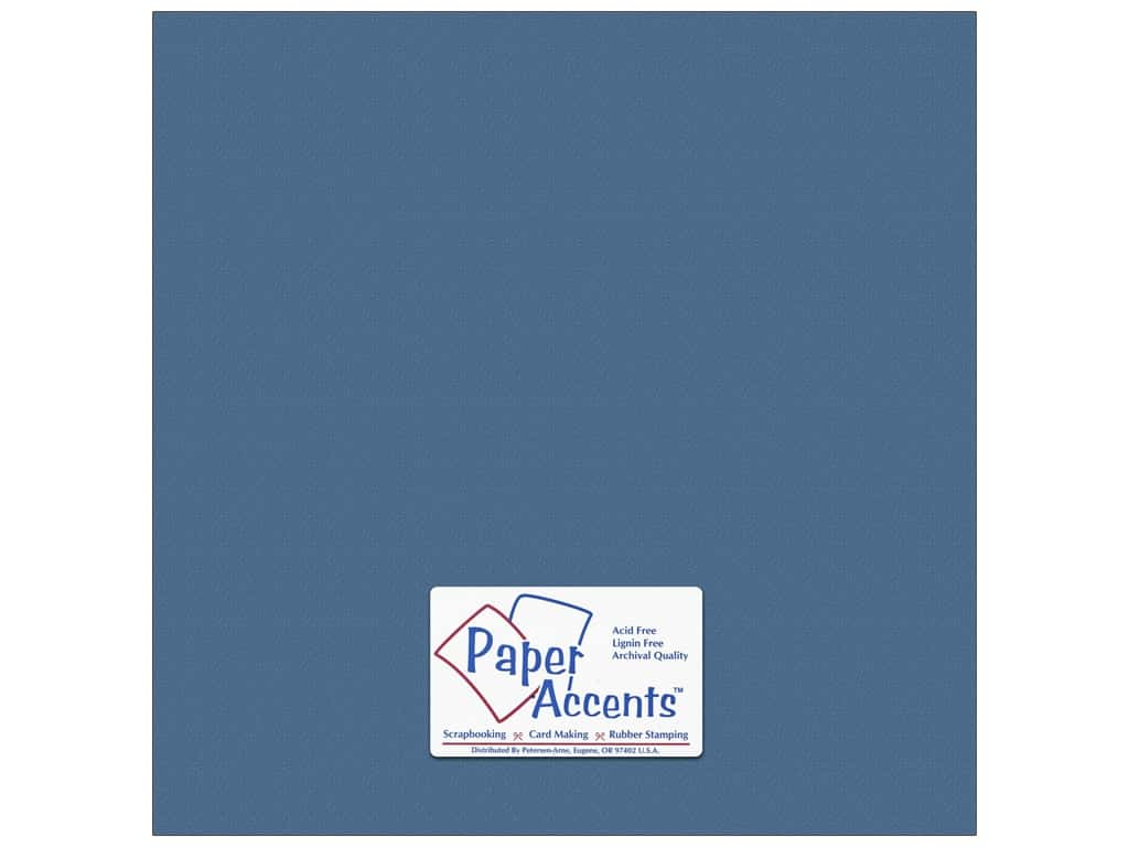 Paper Accents Cardstock 12 x 12 in. #10157 Stash Builder Textured Bahama Blue 25 pc.