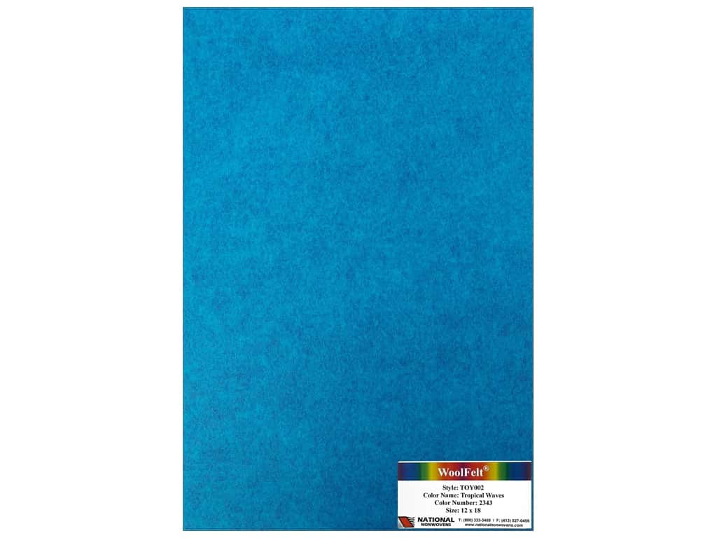 National Nonwovens 35% Wool Felt 12 x 18 in. Tropical Wave (10 sheets)