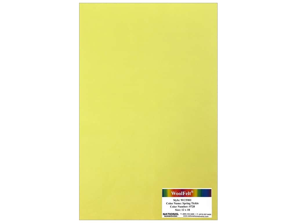 National Nonwovens 20% Wool Felt 12 x 18 in. Spring Tickle (10 sheets)