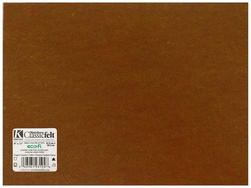 Kunin Felt 9 x 12 in. Copper Canyon (24 sheets)
