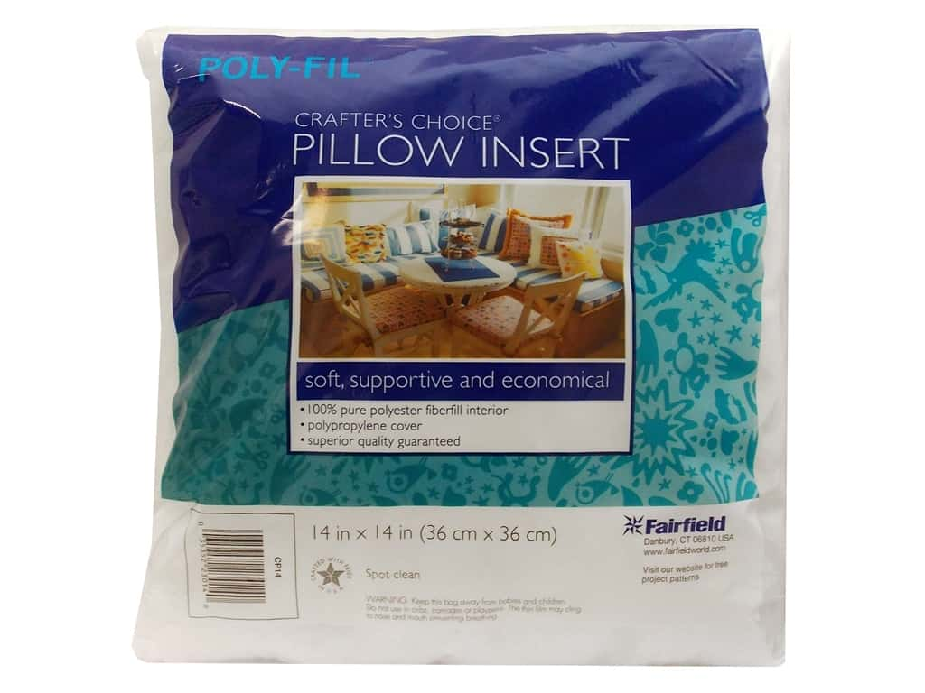 """Fairfield Pillow Form Crafters Choice 14"""" Square"""