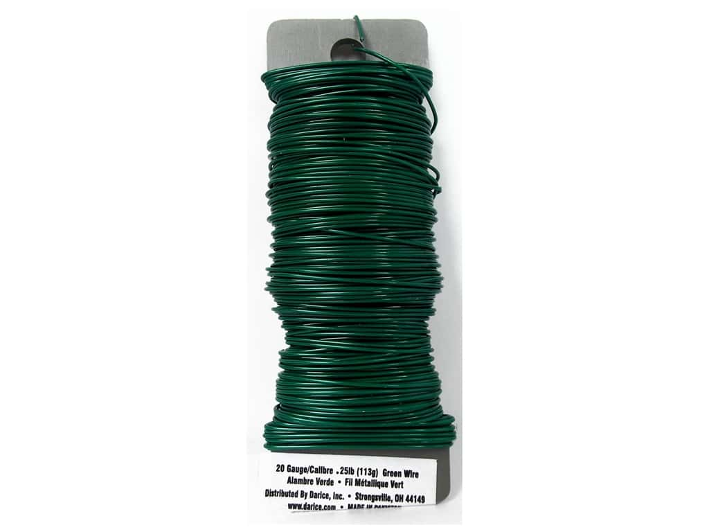 Darice Paddle Wire 20 Gauge Green 110 ft.