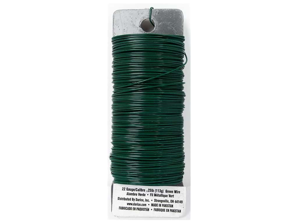 Darice Paddle Wire 22 Gauge Green 110 ft.