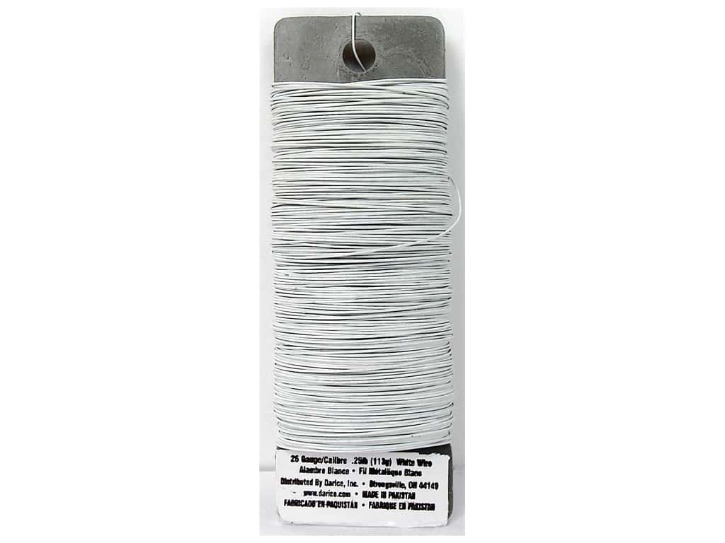 Darice Paddle Wire 26 Gauge White 110 ft.