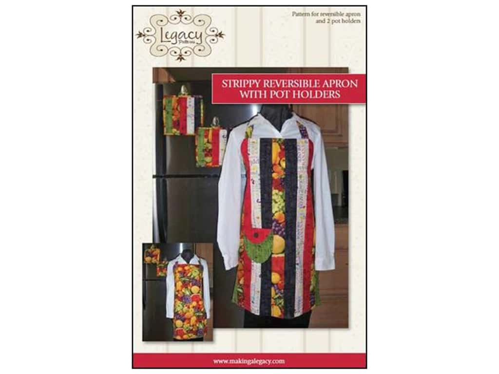 Legacy Patterns - Strippy Reversible Apron with Pot Holders
