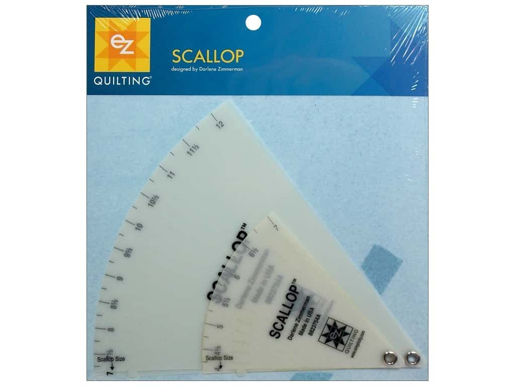 EZ Quilting Easy Scallop Quilting Ruler Set