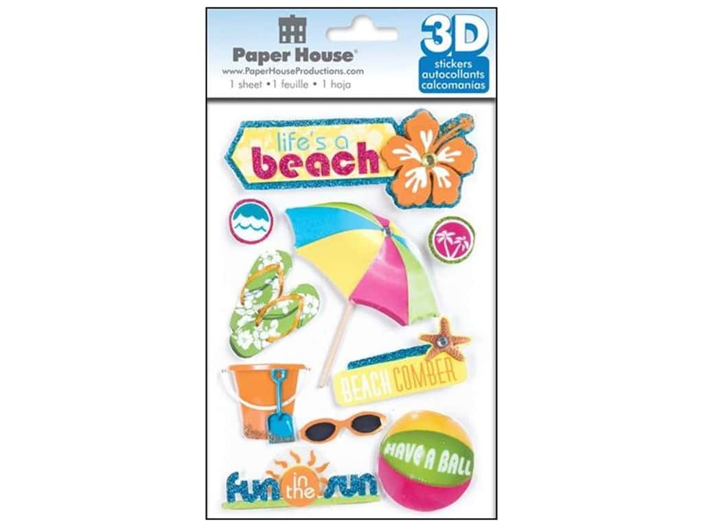 Paper House Sticker 3D Life's A Beach