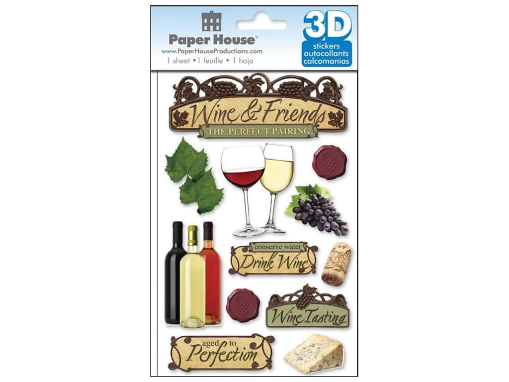 Paper House 3D Stickers - Wine
