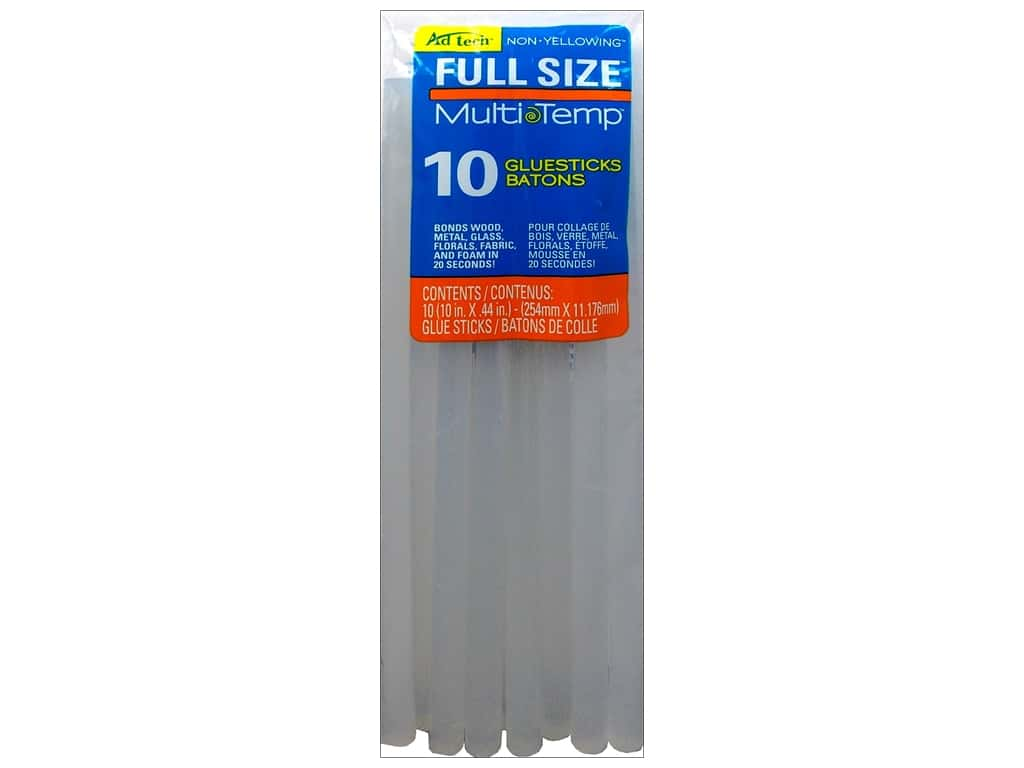 MultiTemp Hot Glue Stick 10 in. 10 pc. by Adhesive Technology