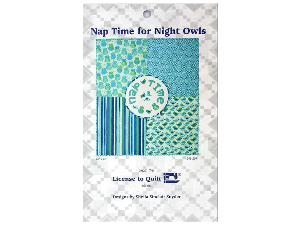 License To Quilt Nap Time For Night Owls Pattern