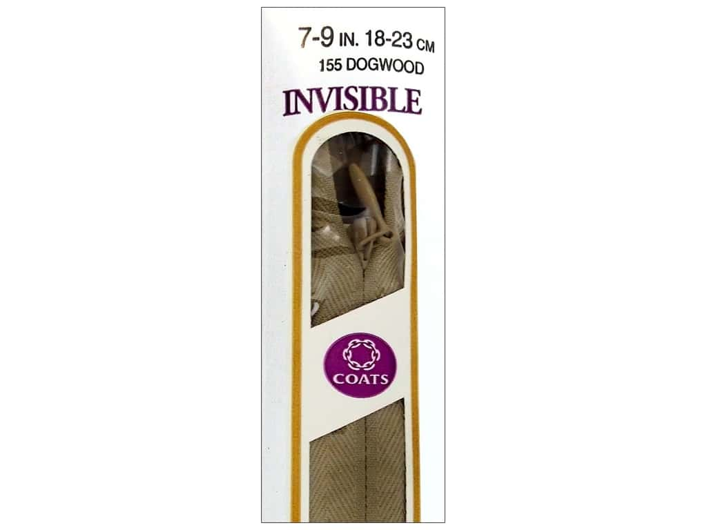 Coats Polyester Invisible Zipper 7 - 9 in. Dogwood