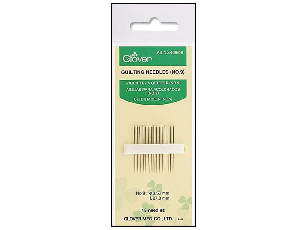 Clover Quilting Needles 15 pc. Size 9