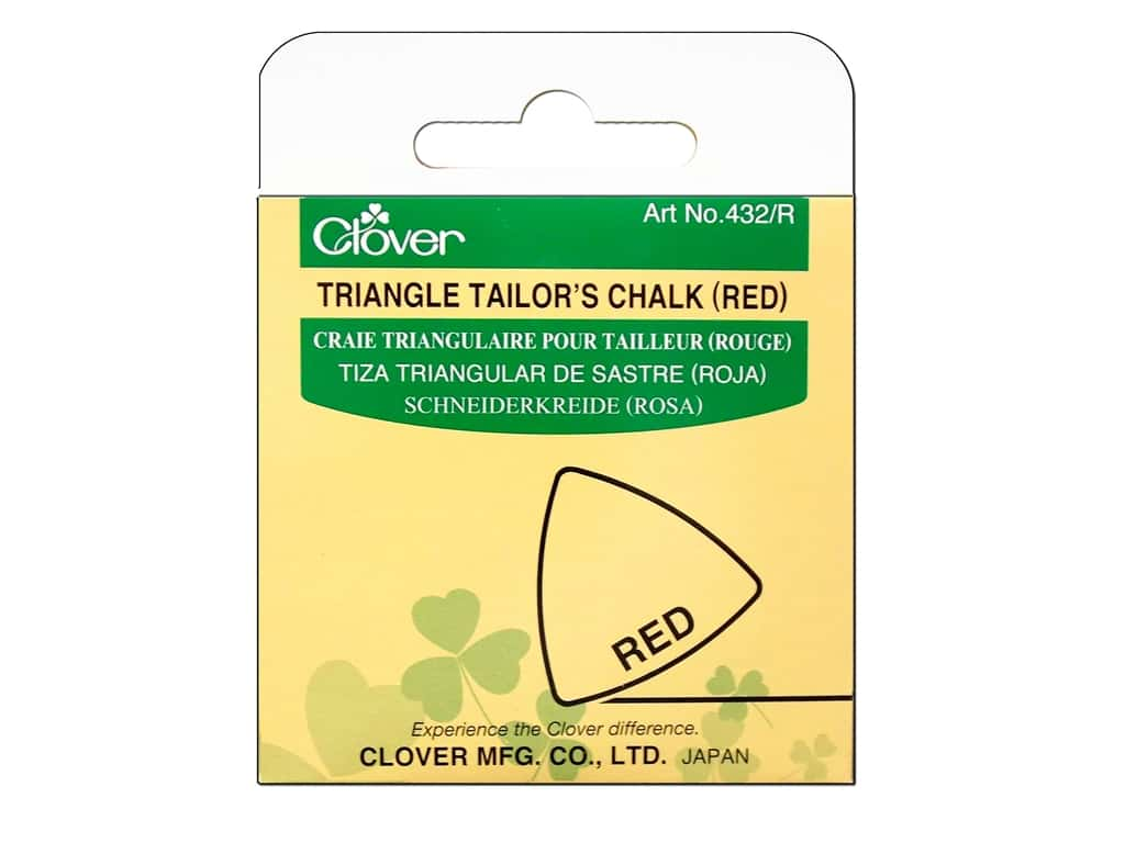 Clover Triangle Tailors Chalk Red