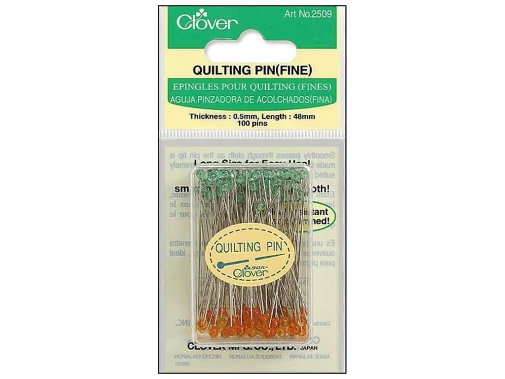 Clover Quilting Pins Fine 100 pc.