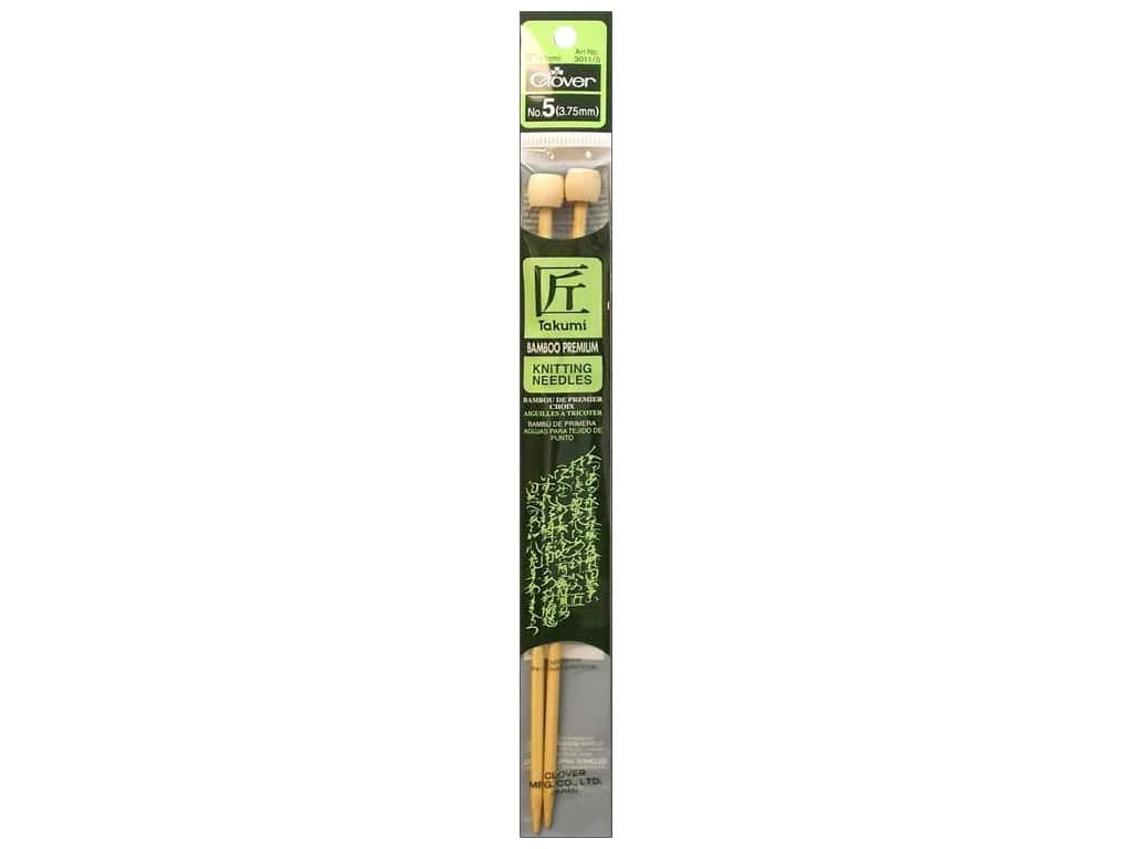 Clover Bamboo Single Point Knitting Needles - 9 in. Size 5 (3.75 mm)