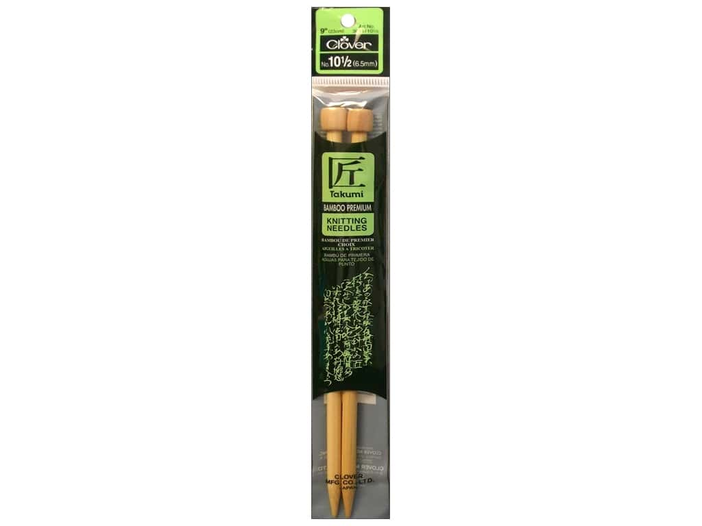 Clover Bamboo Single Point Knitting Needles 9 in. Size 10.5 (6.5 mm)