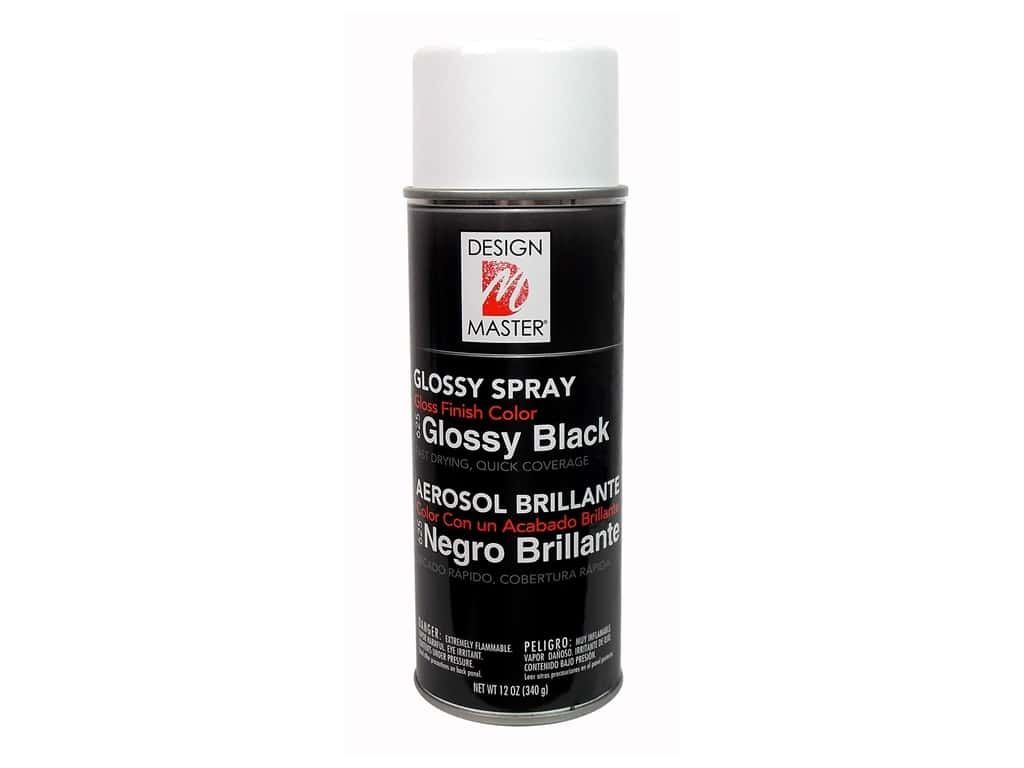 Design Master Colortool Spray Paint 12 oz. #625 Glossy Black