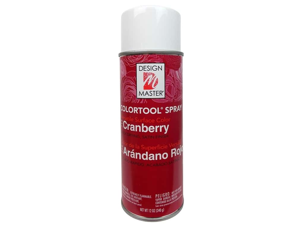 Design Master Colortool Spray Paint 12 oz. #713 Cranberry