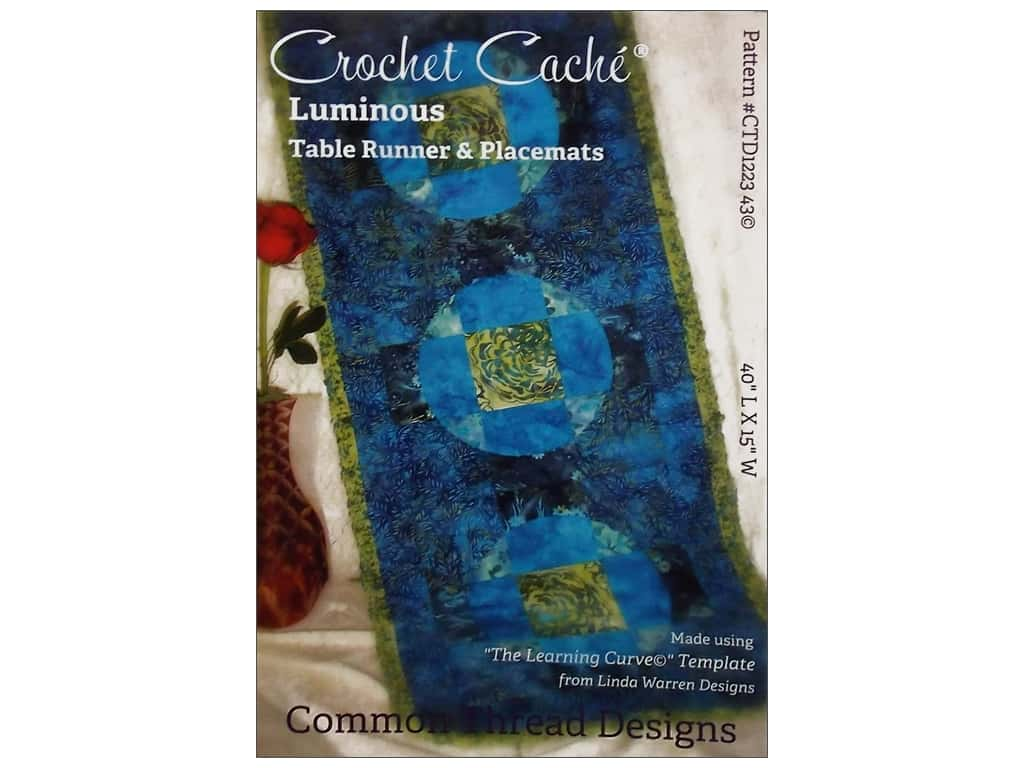 Common Thread Designs Crochet Cache Luminous Table Runner & Placemats Pattern