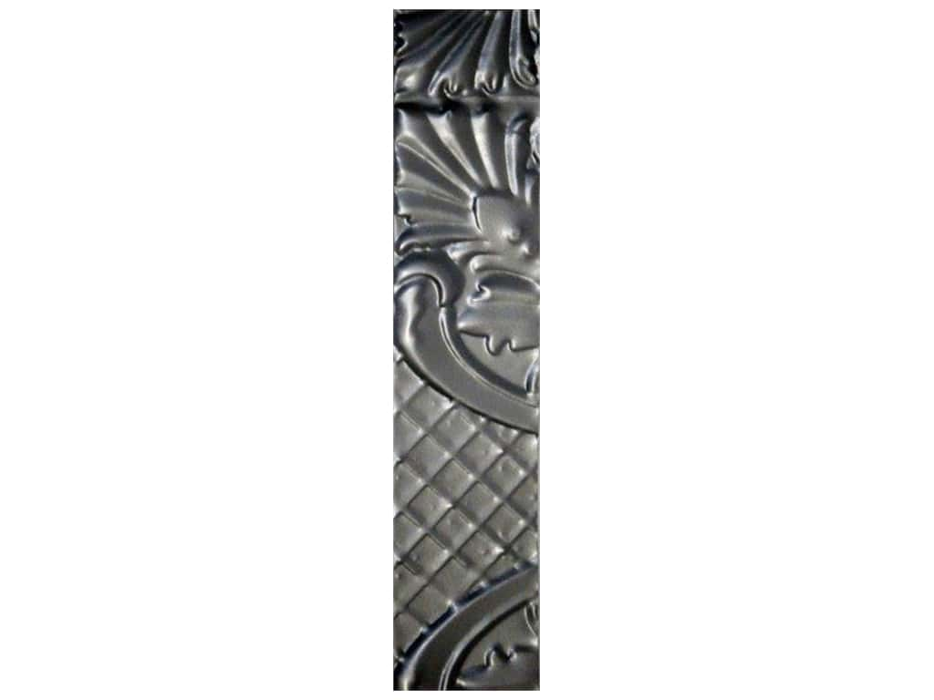 Sierra Pacific Crafts Decor Tin Strip Decorative 2 in. x 24 in. Embossed Floral Natural