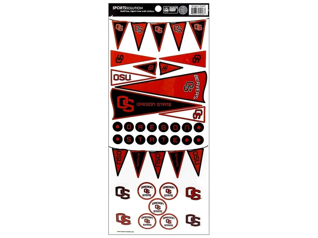 Sports Solution Sticker Pennant Oregon State