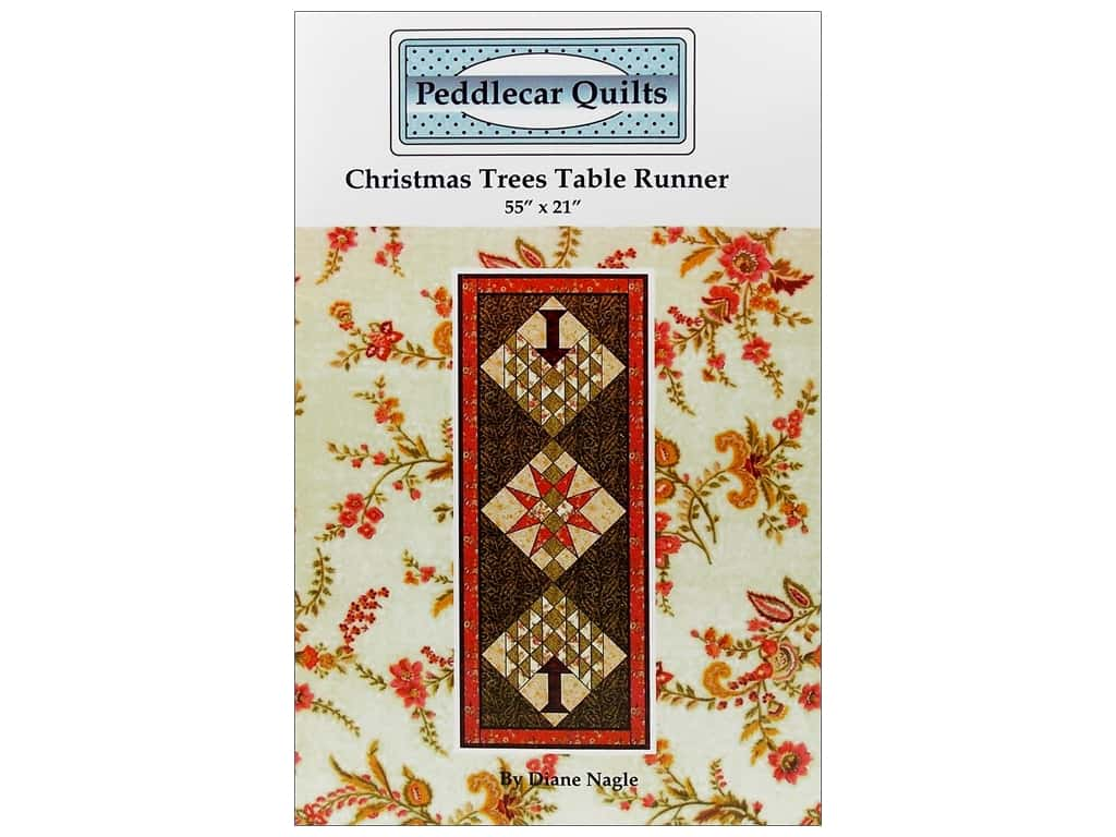 Peddlecar Quilts Christmas Trees Table Runner Pattern