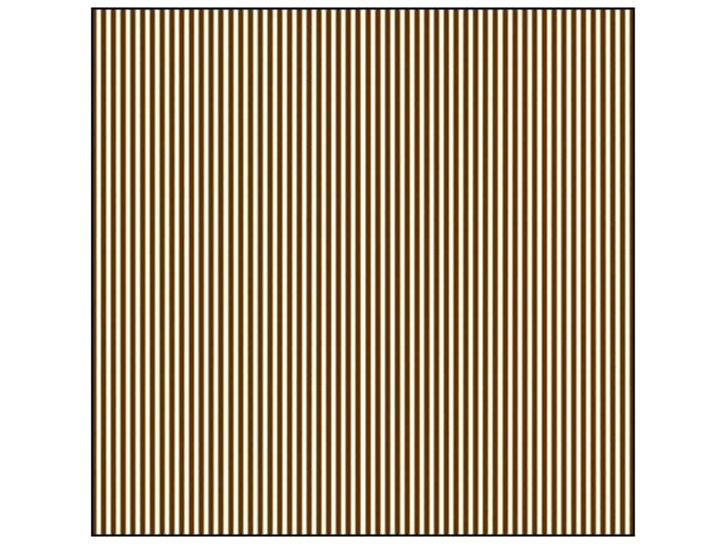 Canvas Corp 12 x 12 in. Paper Chocolate & Ivory Ribbon Stripe (15 sheets)
