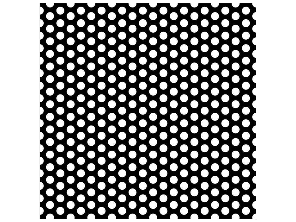 Canvas Corp 12 x 12 in. Paper Black & White Dot Reverse (15 sheets)