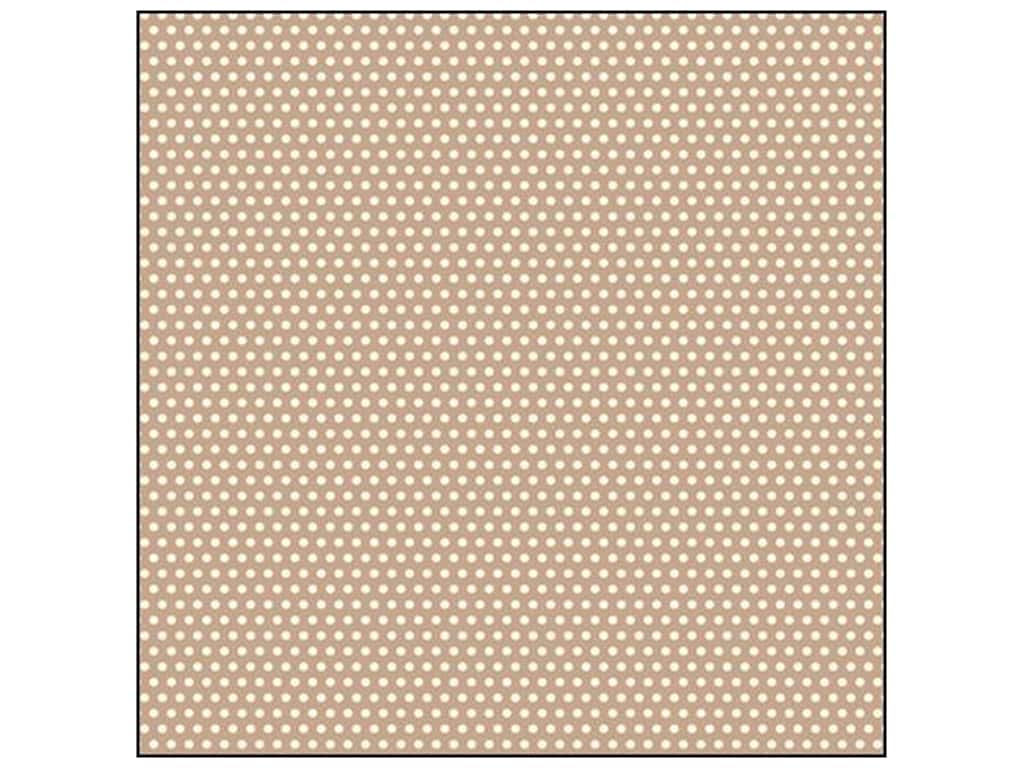 Canvas Corp 12 x 12 in. Paper Tan & Ivory Mini Dot Reverse (15 sheets)