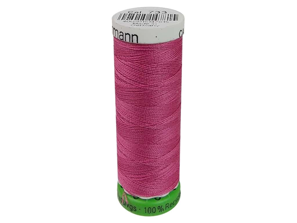 Gutermann Recycled Polyester Thread 110 yd. #733 Dusty Rose