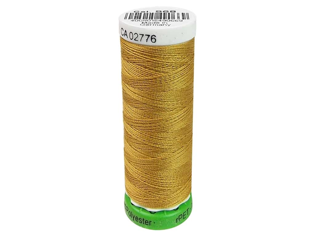Gutermann Recycled Polyester Thread 110 yd. #968 Gold