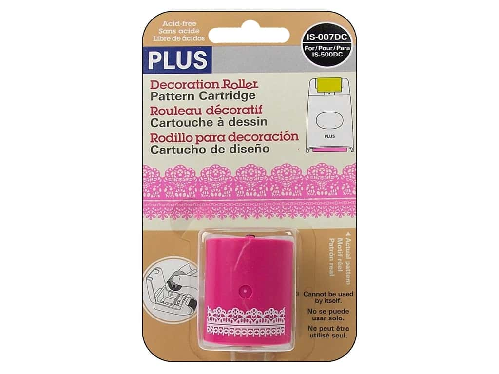 Plus Decoration Roller Pattern Cartridge -  Pink Lace