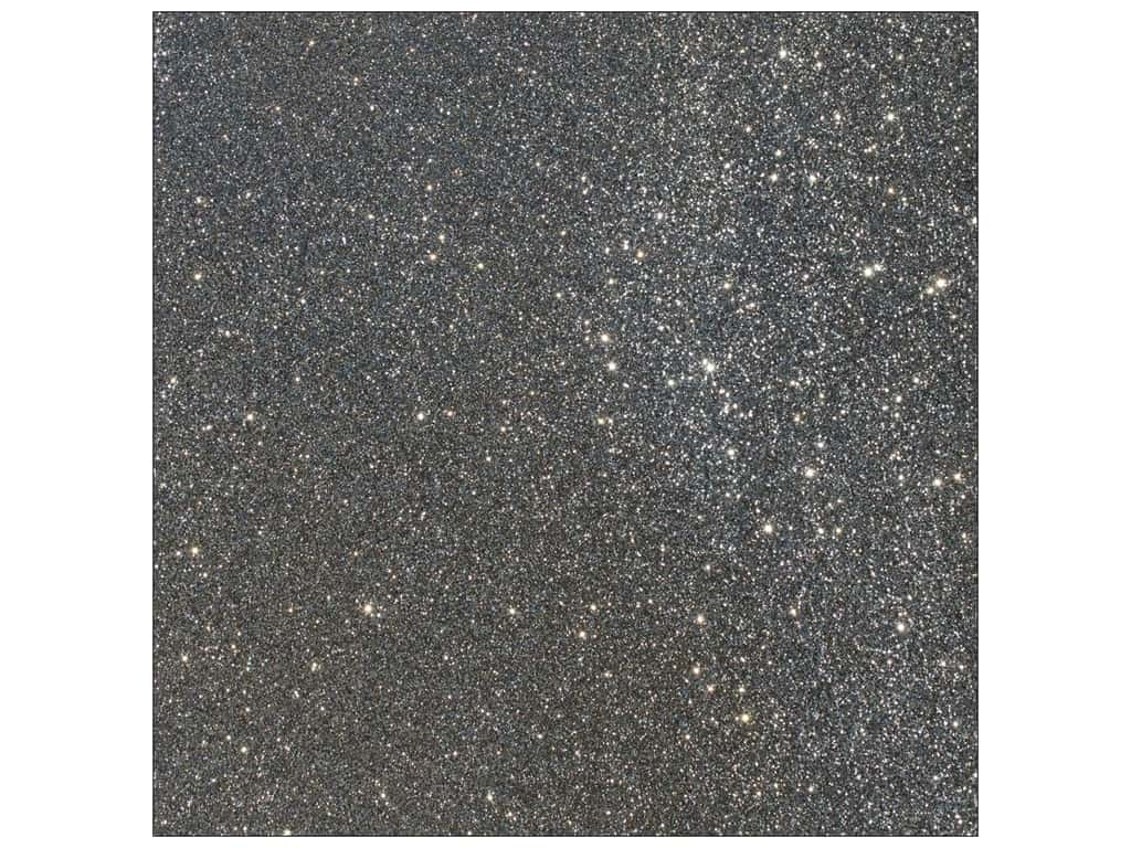 American Crafts 12 x 12 in. Cardstock Duotone Glitter Charcoal (15 sheets)