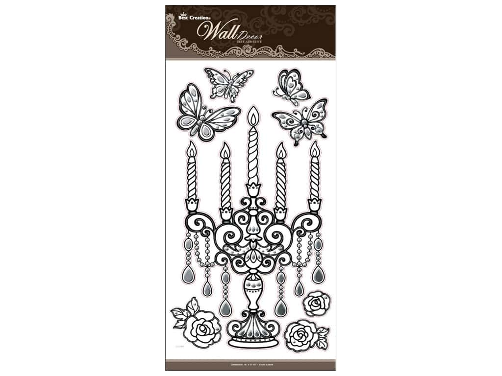 Best Creation Wall Decor Stickers 3D Black Crystal Unity Candle