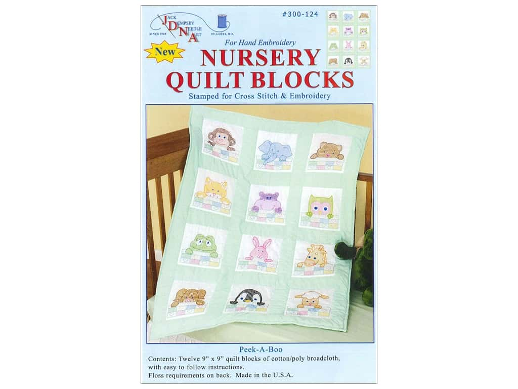 Jack Dempsey 9 in. Quilt Blocks 12 pc. Peek A Boo
