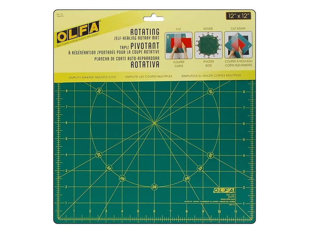 "Olfa Spinning Rotary Mat 12"" Square"