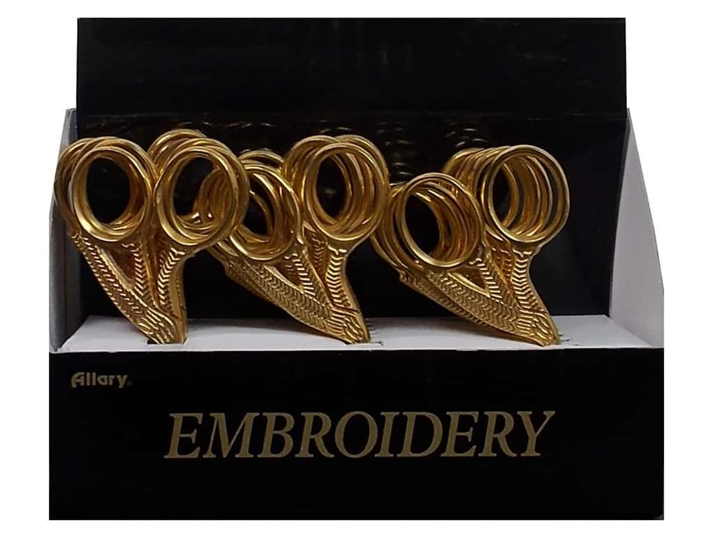 Allary Stork Embroidery Scissors - Gold 18 pc. (18 pieces)