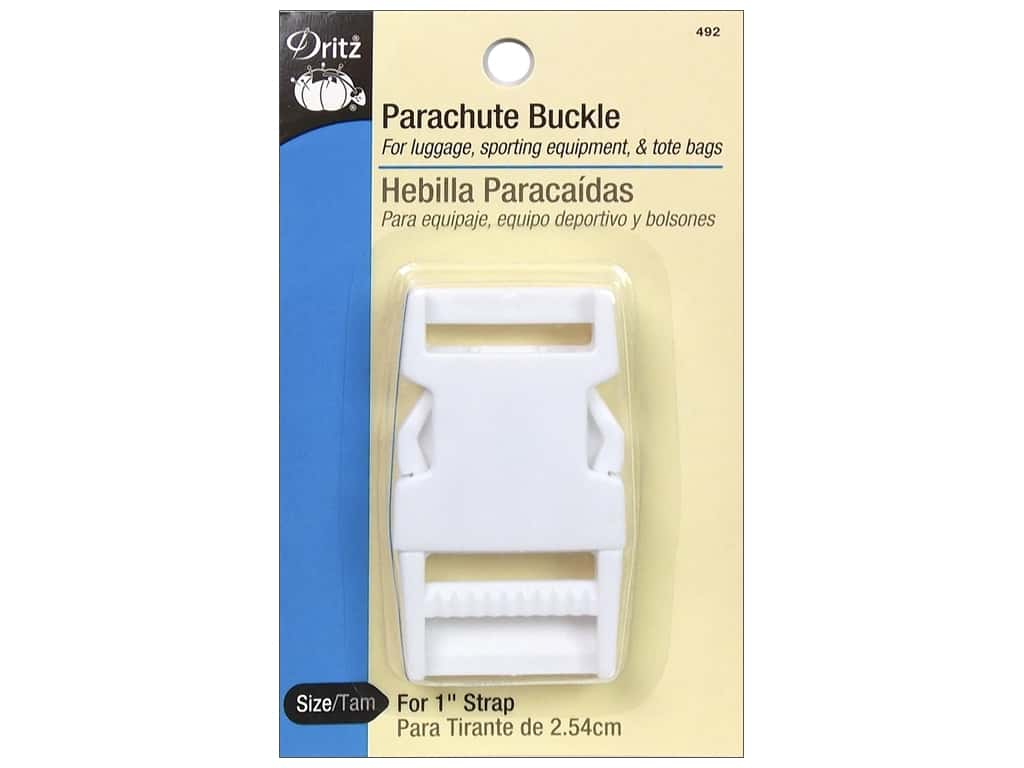 Dritz Parachute Buckle for 1 in. Strap White
