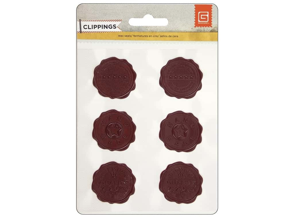 BasicGrey Wax Seal Stickers Clippings