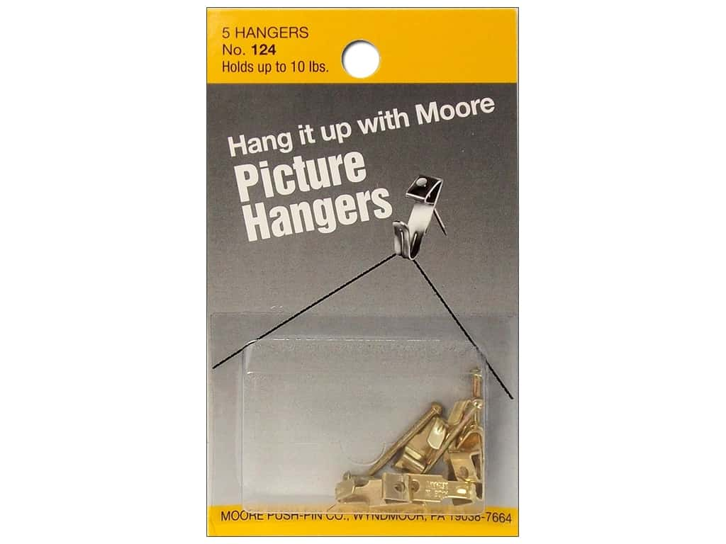 Moore Picture Hangers with Nail 10 lb. 5 pc.