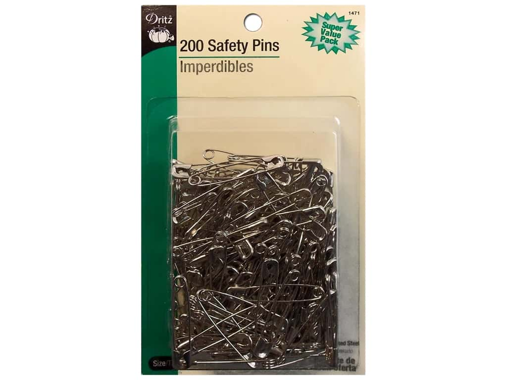 Safety Pins by Dritz 1 1/2 in. Nickel 200pc.