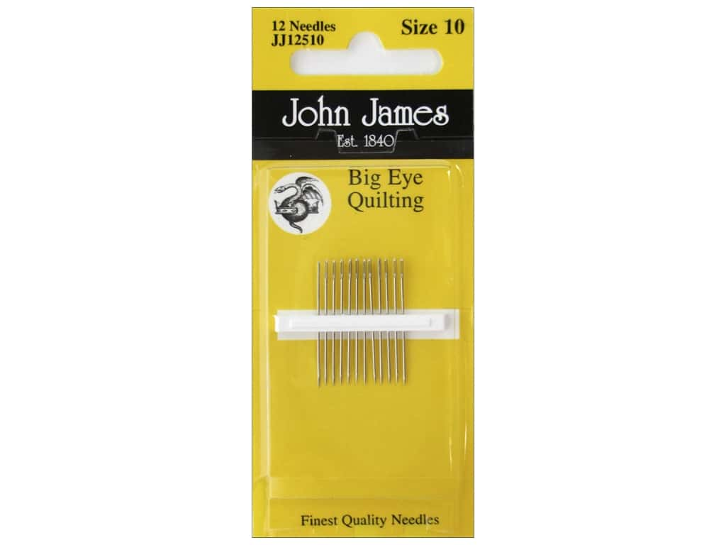 John James Big Eye Quilting Needles Size 10 12 pc.