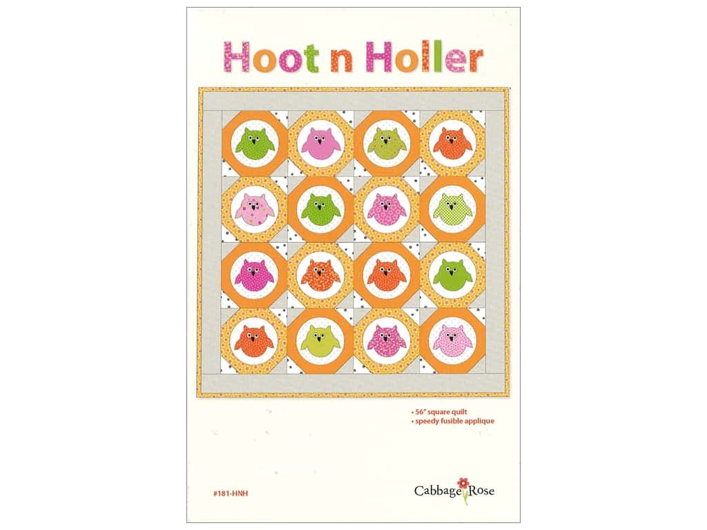 Cabbage Rose Hoot n Holler Pattern
